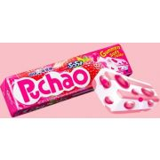 Uha Mikakuto Puchao Strawberry Gummy and Soft Candy, 1.76 Ounce -- 10 per case