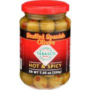 Tabasco Hot and Spicy Spanish Pimento Stuffed Olives, 7.05 Ounce -- 6 per case