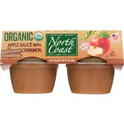 North Coast Organic Apple Sauce with Cinnamon, 4 count per pack -- 12 per case