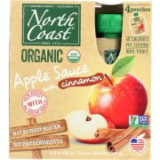 North Coast Organic Apple Sauce with Cinnamon, 4 count per pack -- 6 per case
