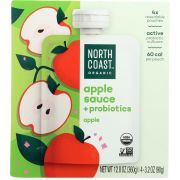 North Coast Probiotic Apple Sauce, 12.8 Ounce Pouch -- 6 per case