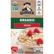 Quaker Organic Regular Instant Oatmeal Cereal, 7.9 Ounce -- 6 per case