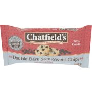 Chatfields Double Dark Semi Sweet Chocolate Chips, 10 Ounce -- 12 per case