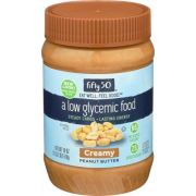 Fifty 50 Low Glycemic Creamy Peanut Butter, 18 Ounce -- 6 per case