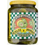 Tony Packos Thin Sliced Pickles and Peppers, 24 Ounce -- 6 per case