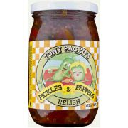 Tony Packos Pickles and Peppers Relish, 16 Ounce -- 6 per case