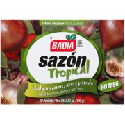Badia No Msg Sazon Tropical Seasoning Blend, 3.52 Ounce -- 15 per case