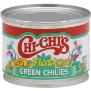 Chi Chis Diced Green Chilies, 4.25 Ounce -- 12 per case
