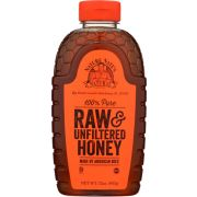 Nature Nate's 100 Percent Pure Raw and Unfiltered Honey, 32 Ounce Bottle -- 6 per case
