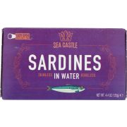 Sea Castle Skinless and Boneless Sardines in Water, 4.375 Ounce -- 12 per case