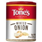 Tones Minced Onion Seasoning, 0.7 Ounce -- 6 per case