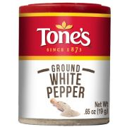 Tones Ground White Pepper, 0.65 Ounce -- 6 per case