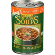 Amys Organic Hearty Rustic Italian Vegetable Soup, 14 Ounce -- 12 per case