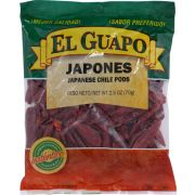 EL Guapo Whole Japanese Red Pepper, 2.5 Ounce -- 24 per case