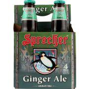 Sprecher Ginger Ale Soda, 4 count per pack -- 6 per case