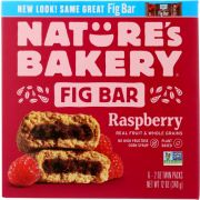 Natures Bakery Raspberry Stone Ground Whole Wheat Fig Bar, 12 Ounce -- 6 per case