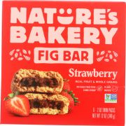Natures Bakery Strawberry Stone Ground Whole Wheat Fig Bar, 12 Ounce -- 6 per case