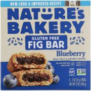 Natures Bakery Gluten Free Blueberry Fig Bar, 6 count per pack -- 6 per case