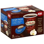 Tim Hortons French Vanilla Coffee, 12 count per pack -- 6 per case
