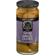Sable and Rosenfeld Vodka Tipsy Garlic Olive, 5 Ounce -- 6 per case