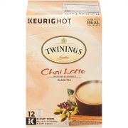 Twinings French Vanilla Chai Latte Black Tea K Cup Pods, 12 count per pack -- 6 per case