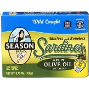 Seasons Skinless and Boneless Sardines in Pure Olive Oil, 3.75 Ounce -- 12 per case