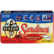 Seasons Sardine in Tomato Sauce, 4.375 Ounce -- 12 per case