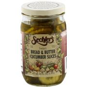 Sechlers Sweet Bread and Butter Cucumber Slices, 16 Ounce -- 6 per case