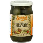 Sechlers Candied Sweet Orange Chunk Pickles, 16 Ounce -- 6 per case