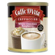 Caffe D Vita White Chocolate Raspberry Instant Cappuccino, 1 Pound Canister -- 6 per case