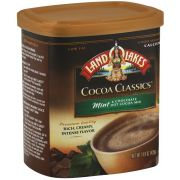 Land O Lakes Cocoa Classics Mint and Chocolate Hot Cocoa Mix, 14.8 Ounce Canister -- 6 per case