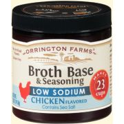Orrington Farms Low Sodium Natural Chicken Broth Base and Seasoning, 5 Ounce -- 6 per case