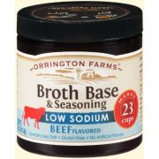 Orrington Farms Low Sodium Natural Beef Broth Base and Seasoning, 5 Ounce -- 6 per case