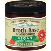 Orrington Farms All Natural Vegan Vegetable Broth Base and Seasoning, 6 Ounce -- 6 per case