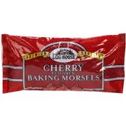 Log House Cherry Flavored Baking Morsels Chips, 10 Ounce -- 12 per case