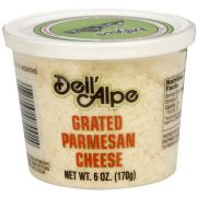 Dell Alpe Grated Dried Parmesan Cheese, 6 Ounce -- 12 per case