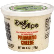 Dell Alpe Grated Dried Parmano Cheese, 6 Ounce -- 12 per case