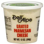 Dell Alpe Grated Dried Parmesan Cheese, 12 Ounce -- 6 per case