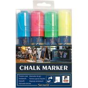 American Metalcraft Assorted Colors Big Tip Chalk Markers -- 1 each