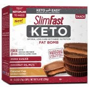 SlimFast Keto Fat Bomb Caramel Cup Snacks, 0.59 Ounce Box -- 56 per case