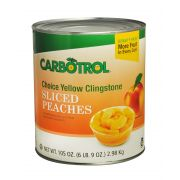 Fruit Carbotrol Peach Sliced Yellow Cling 6 Case 10 Can