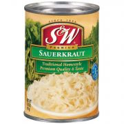 S and W Premium Sauerkraut, 14.5 Ounce Can -- 12 per case.
