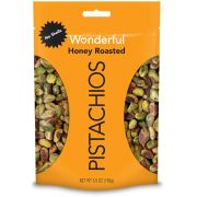 Wonderful No Shell Honey Roasted Pistachios, 5.5 Ounce -- 10 per case