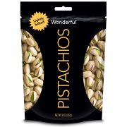 Wonderful Lightly Salted Roasted Pistachio, 8 Ounce -- 10 per case.