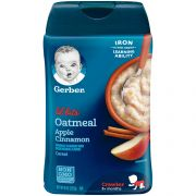 Lil Bits Oatmeal Apple Cinnamon Cereal, 8 Ounce -- 6 per case.