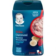 Lil Bits Oatmeal Banana Strawberry Cereal, 8 Ounce -- 6 per case.