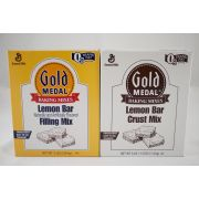 Gold Medal Lemon Bar Crust and Filling Mixes -- 3 boxes of each per case