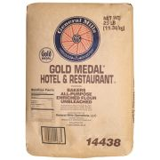Gold Medal Hotel and Restaurant Unbleached All Purpose Enriched/ Malted Flour, 25 Pound -- 2 per case