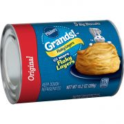 Pillsbury Grands Unbaked Flaky Layers Original Biscuits, 10.2 Ounce -- 12 per case.