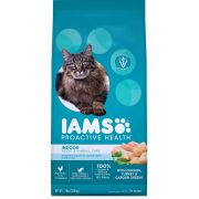 Iams Proactive Health Indoor Weight and Hairball Control Cat Food, 7 Pound Bag -- 4 per case